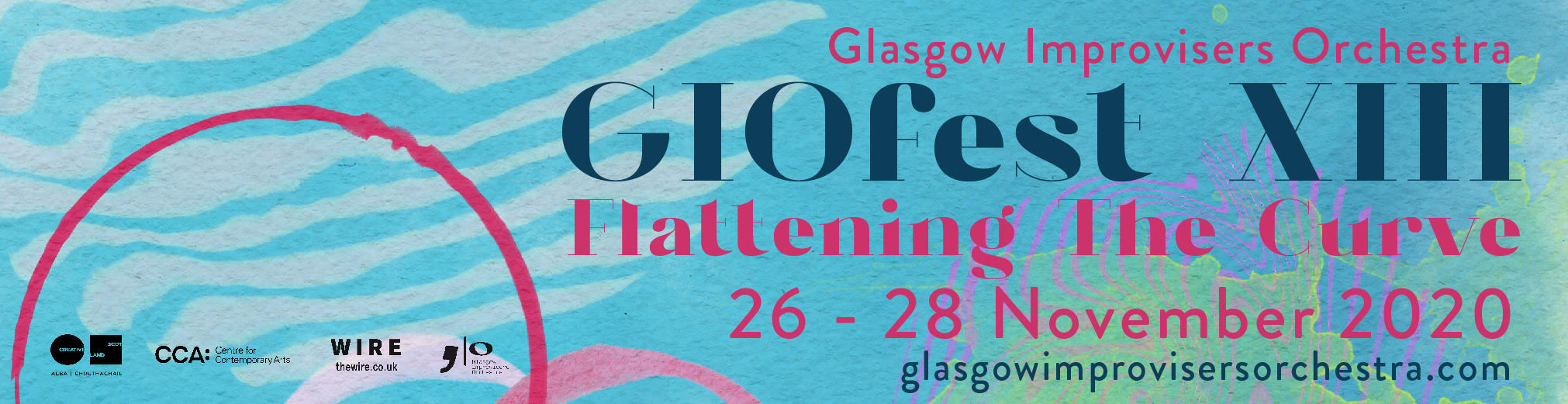 The Glasgow Improvisers Orchestra present GIOfest XIII: 26-28 November 2020. Streamed across the internet for free.